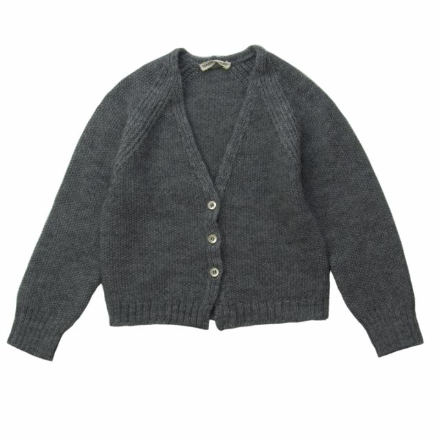 Woolen Cardigan Grey Melange by Babe & Tess