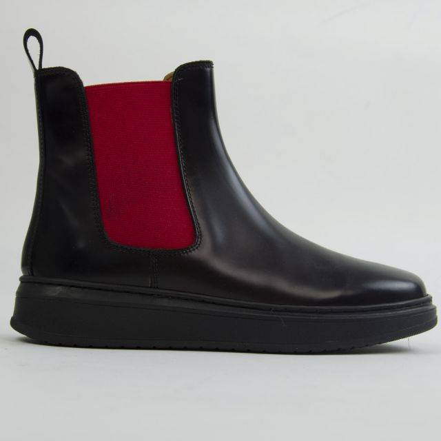 Chelsea Boots Black Leather by Gallucci