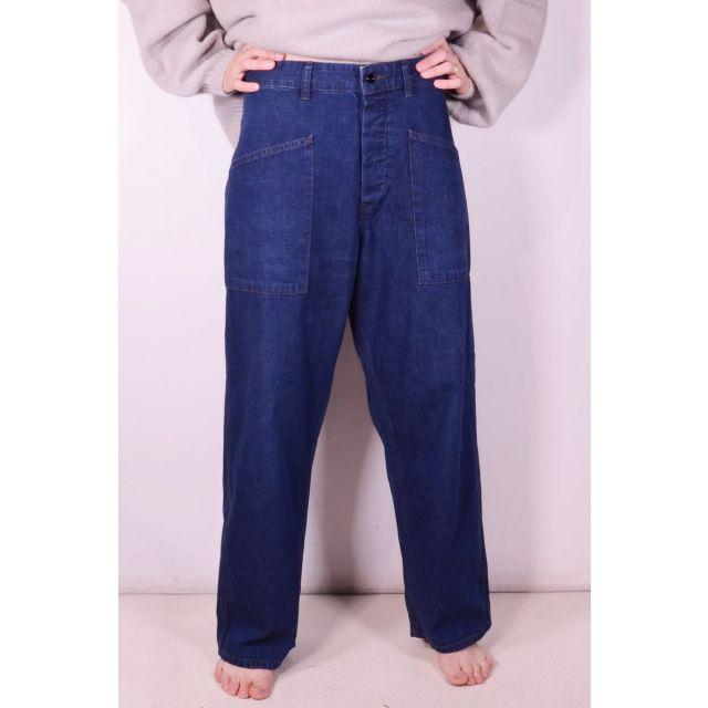 Navy Denim Deck Pants by Chimala