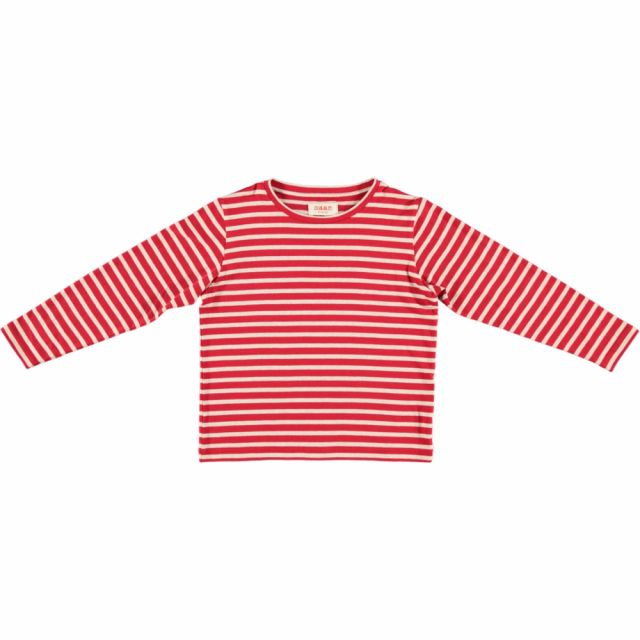 T-Shirt Judd Red Cream Stripes by Maan