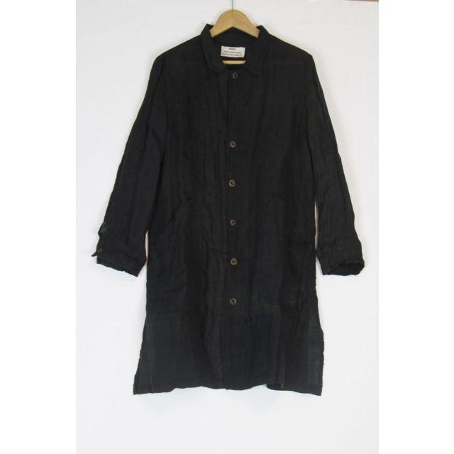 Japanese Vintage Linen Coat Black by Kaval