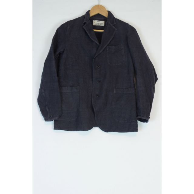 Vintage Linen Simple Stitched Jacket Grey by Kaval