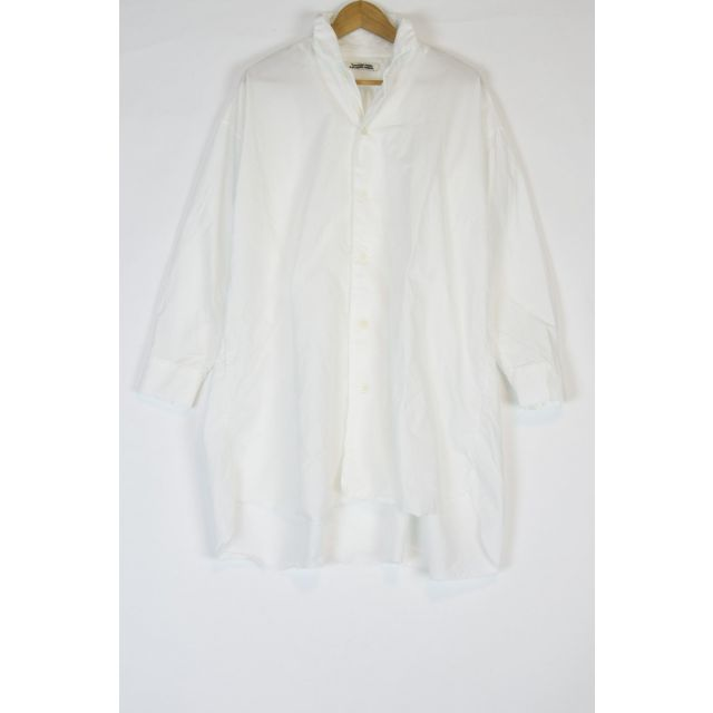 Oversized Cotton Long Sleeve Shirt Off-White by Kaval