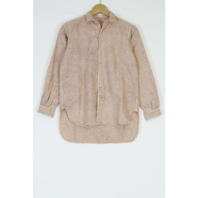 Cotton and Linen Simple Stitched Shirt Pink by Kaval