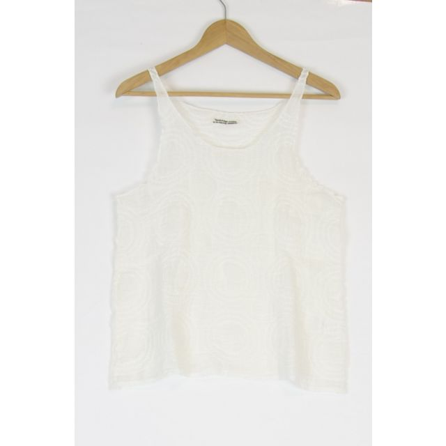 Linen Tank Top Off-White by Kaval