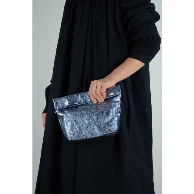 Metallic Leather Shoulder Bag Light Blue by Zilla