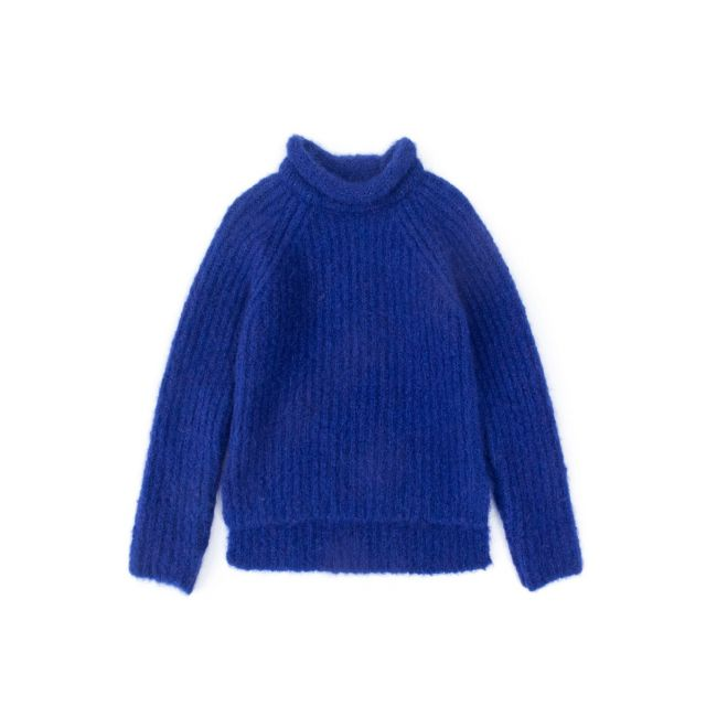 Knitted Woolen Pullover Loroni Blue by Anja Schwerbrock