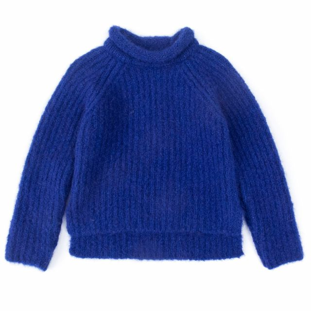 Woolen Pullover Loroni Blue by Anja Schwerbrock