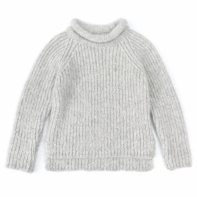 Woolen Pullover Loroni Light Grey Marl by Anja Schwerbrock