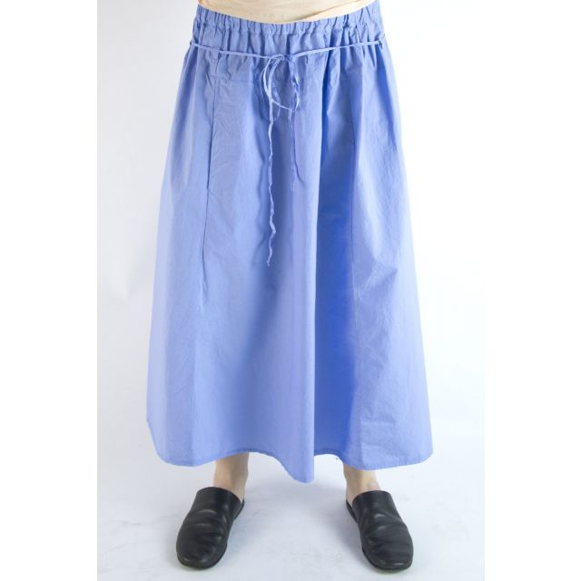 Cotton Skirt Zo Blue by Manuelle Guibal