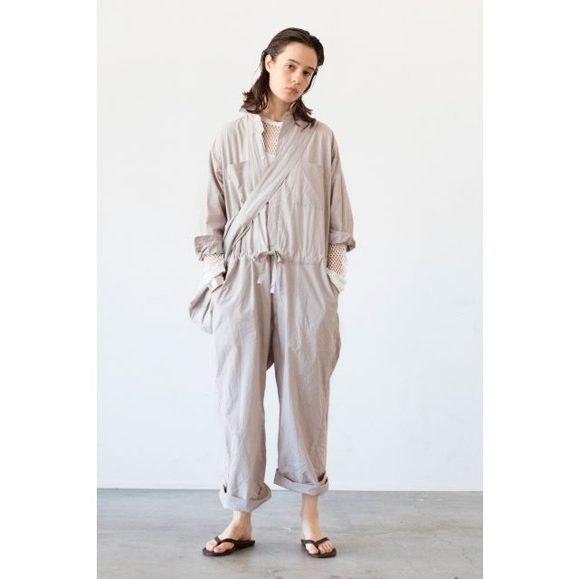Loose Fit String Overall Sand by Toujours