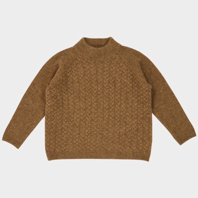 Cashmere Sweater Owl Moss by Caramel