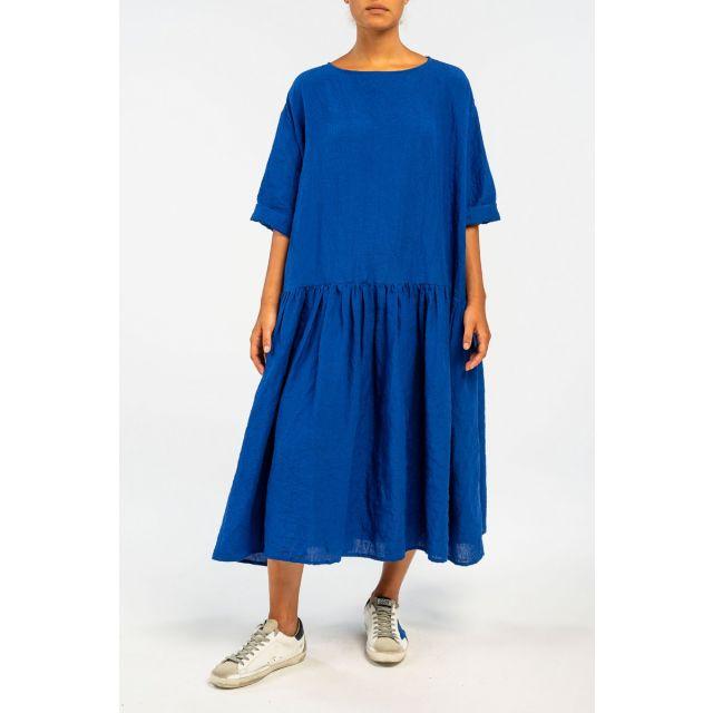 Linen Dress Electric Blue by ApuntoB