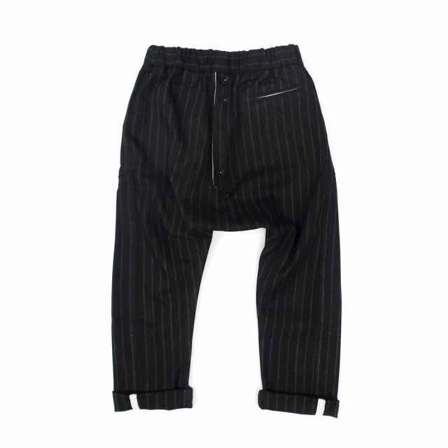 Baggy Trousers Piro Black White Fine Stripes by Anja Schwerbrock