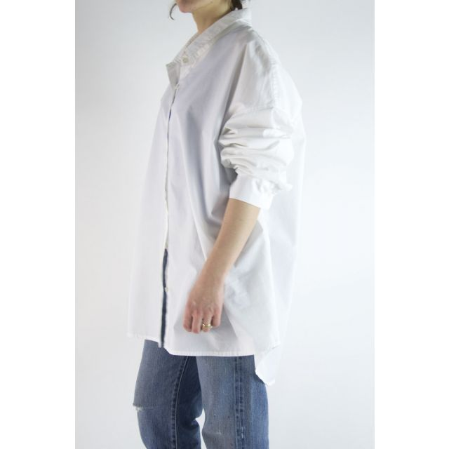 Oversized Cotton Shirt White by Private0204