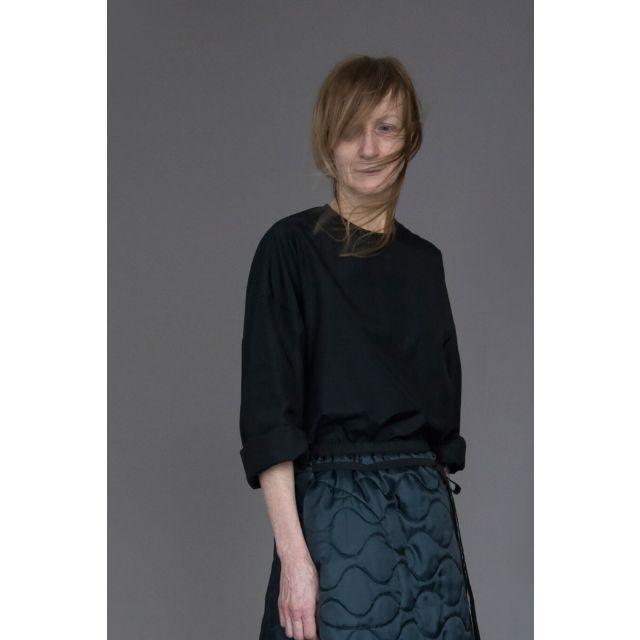 Silk and Cotton Shirt Silvan Black by Ecole de Curiosites