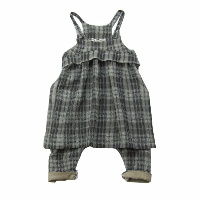 Baby Woolen Overall Oda Checked by Anja Schwerbrock