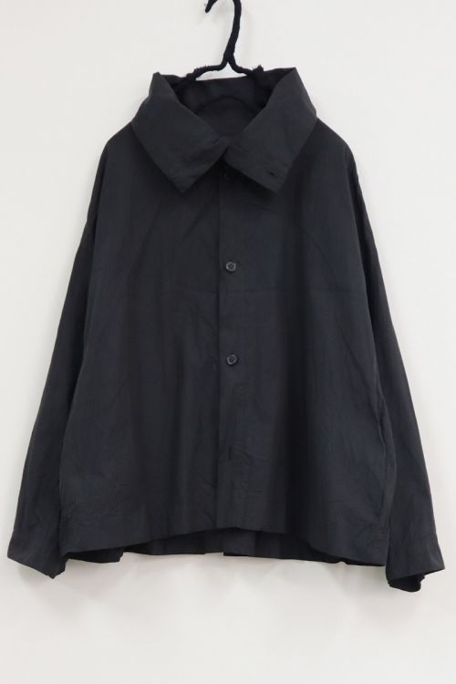 High Neck Shirt Black Navy