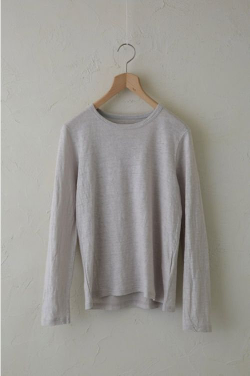 Linen Long Sleeved Shirt  Light Grey by Vlas Blomme