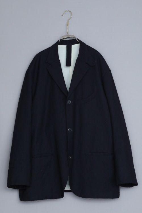 Wool Jacket Edouard Dark Navy by Ecole de Curiosites