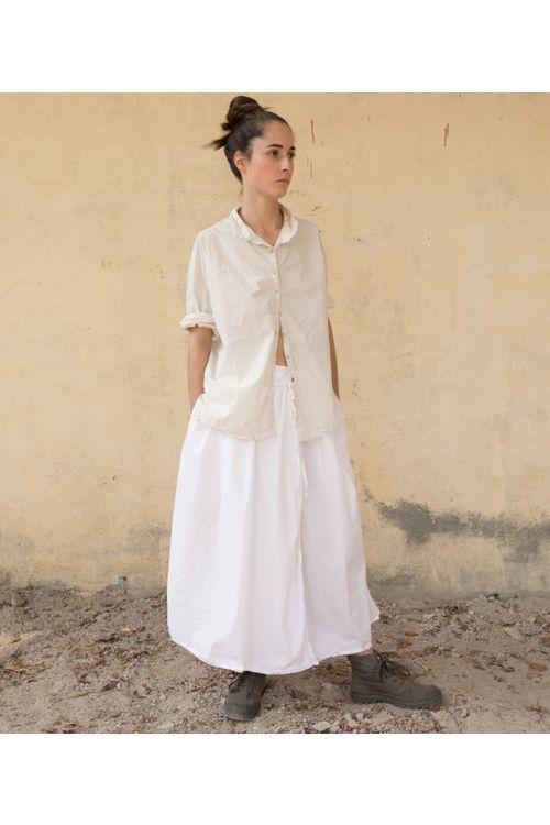 Cotton Skirt White by Album di Famiglia-S/M