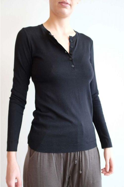 Super Cotton Button Shirt Black by Private0204