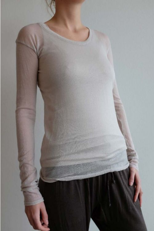 Gauze Cashmere Top Sand by Private0204-S
