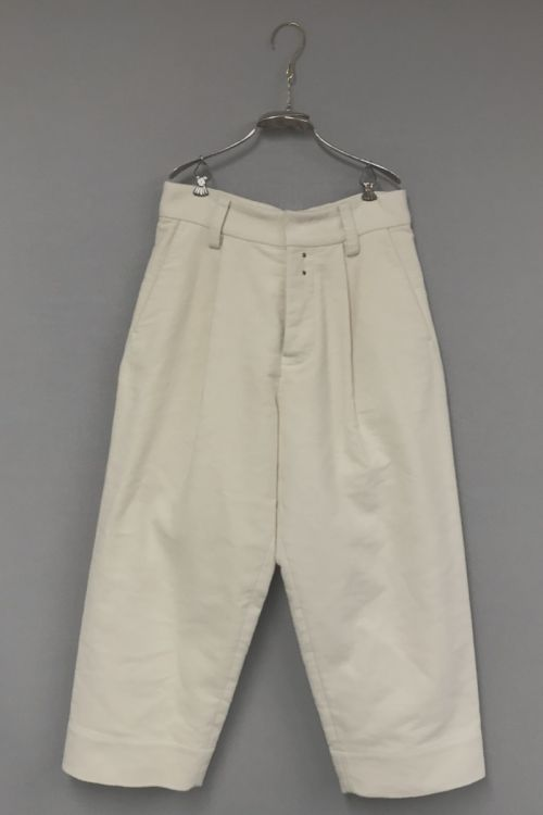 Moleskin Cotton Trousers Paul Ivory by Ecole de Curiosites-S