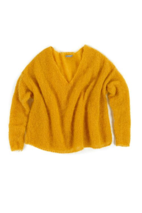 Oversized Woolen Pullover Chocho Orange-S