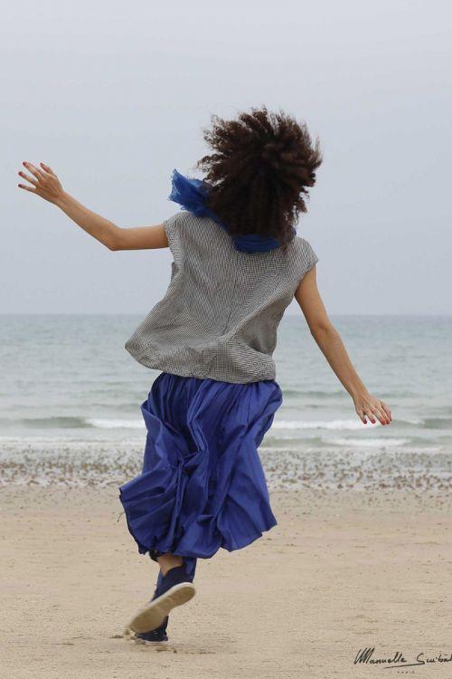 Light Skirt Key Electric Blue by Manuelle Guibal