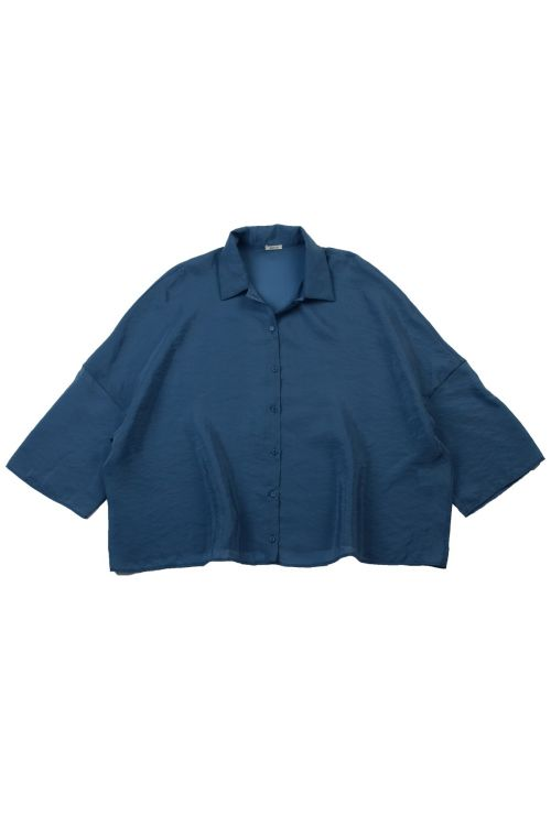 Wide Collar Shirt Blue by ApuntoB