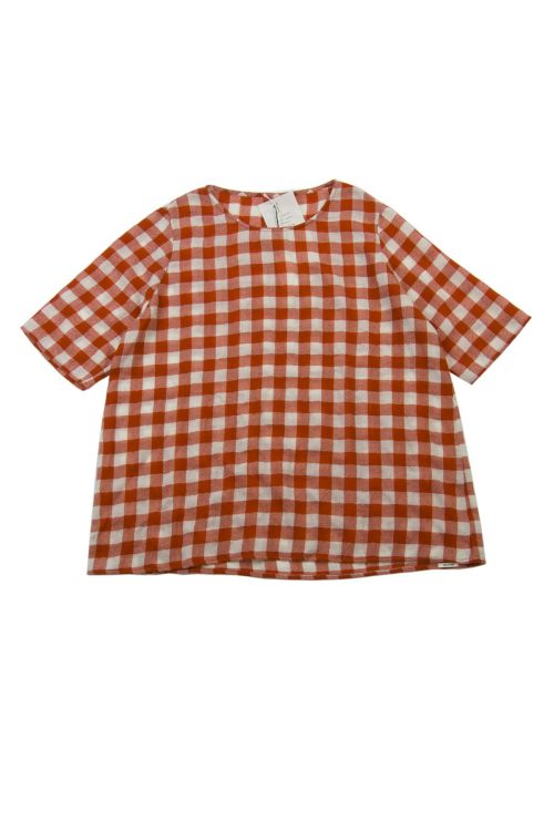 Cashmere Blouse Red Milk Check by ApuntoB-S