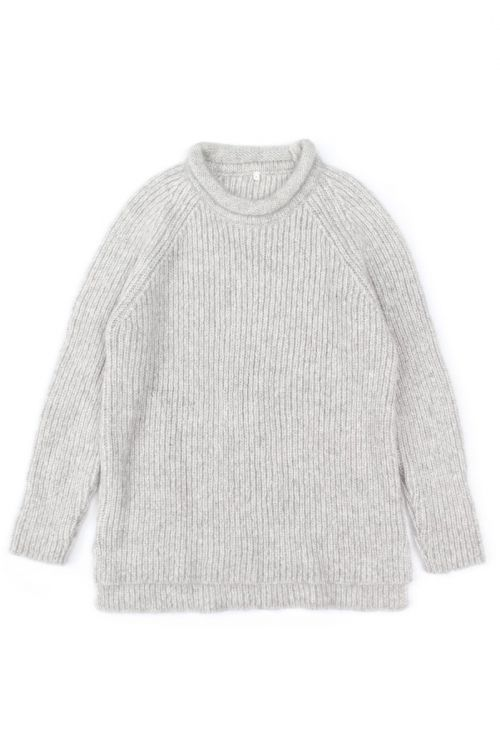 Knitted Woolen Pullover Loroni Light Grey Marl by Anja Schwerbrock