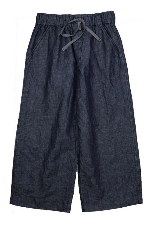 Cotton Linen Trousers Blue Denim by Album di Famiglia