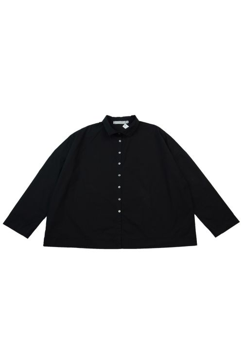 Short Collar Shirt Black by Album di Famiglia