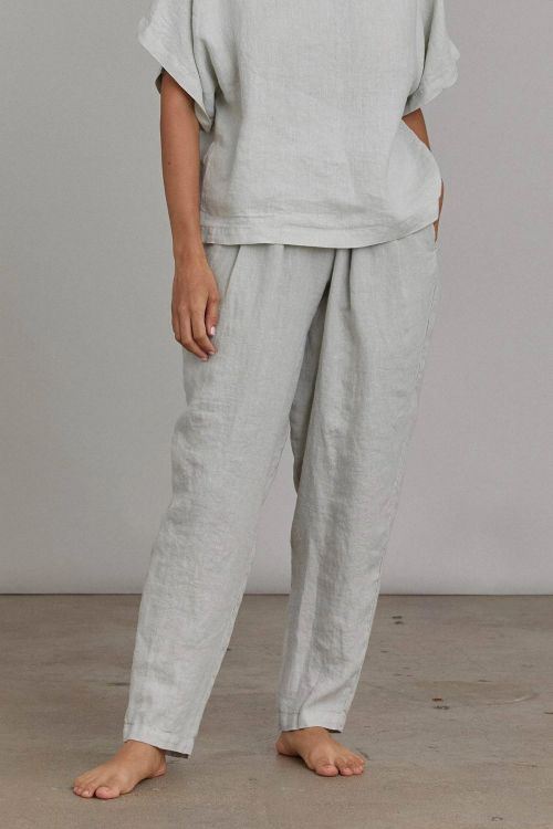 Linen Pants Carpenter Sky by Black Crane-XS