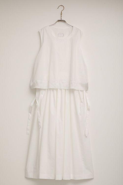 Dress Danielle White by Ecole de Curiosites-S
