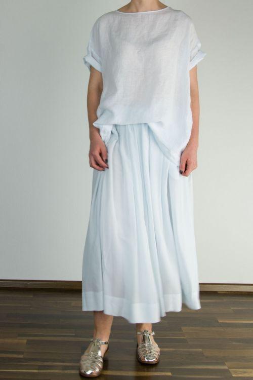 Silk Skirt Yuli Light Blue by Manuelle Guibal