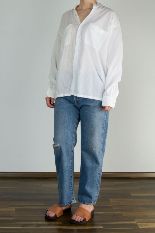 Assymetry Jacket White/Off-White by Maison de Soil