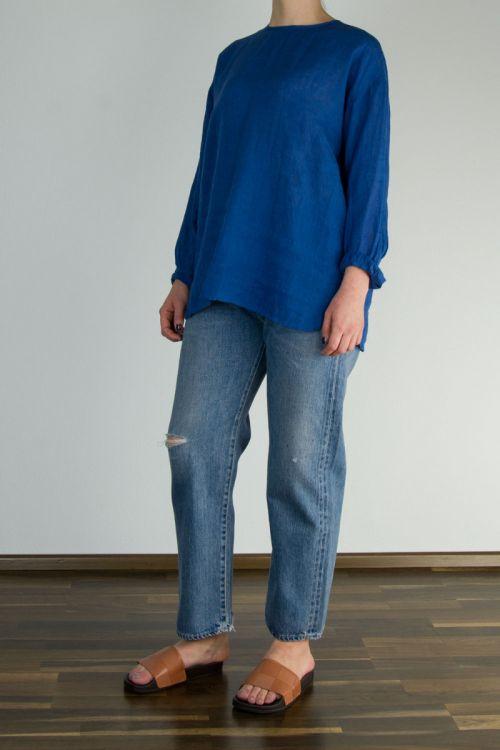 Linen Blue Shirt by Maison de Soil