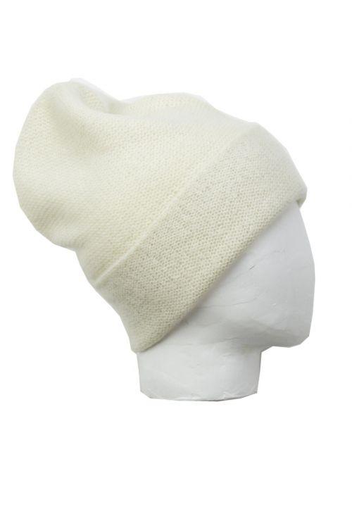 Cashmere Beanie Kaspa Nimbus Ivory by Warm-Me