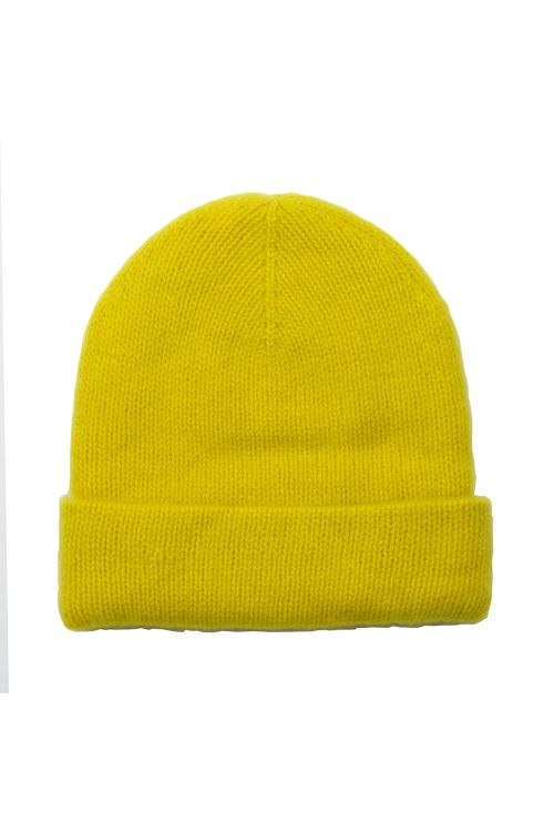 Cashmere Beanie Niklas Lemon by Warm-Me-TU