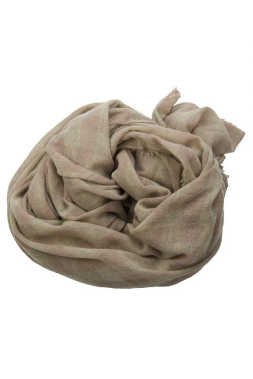 Cashmere Scarf Antique Rose Sand Check by ApuntoB