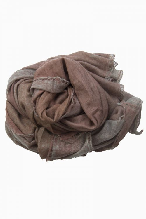 Cashmere Scarf Nomad Flat Dye Red/Grey by Warm-Me