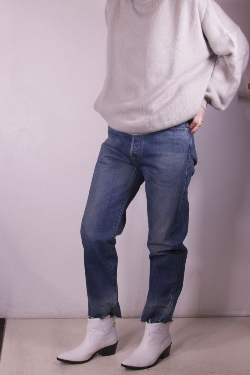 Used Denim Ankle Cut Jeans Vintage Dark by Chimala