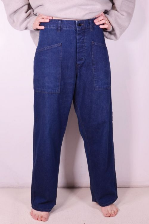 Navy Denim Deck Pants by Chimala
