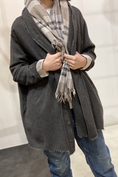 Wool and Cashmere Oversized Cardigan Dust