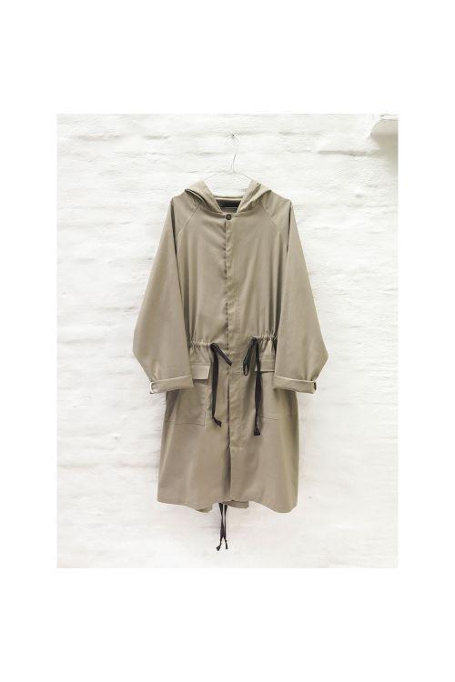 Hooded Parka Coat Jaron Amber