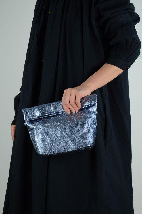 Metallic Leather Shoulder Bag Light Blue by Zilla-TU