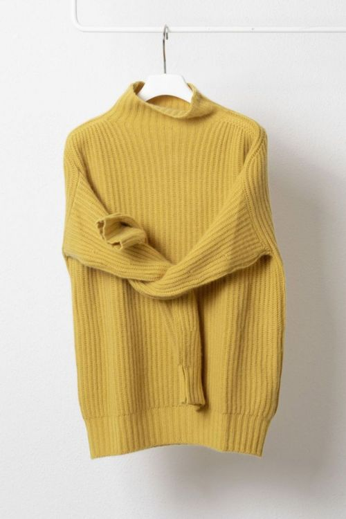Cashmere Sweater Livia Yellow by Warm-Me